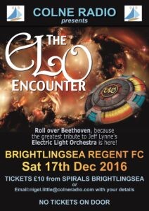 ELO Encounter Tribute - Poster - Colne Radio