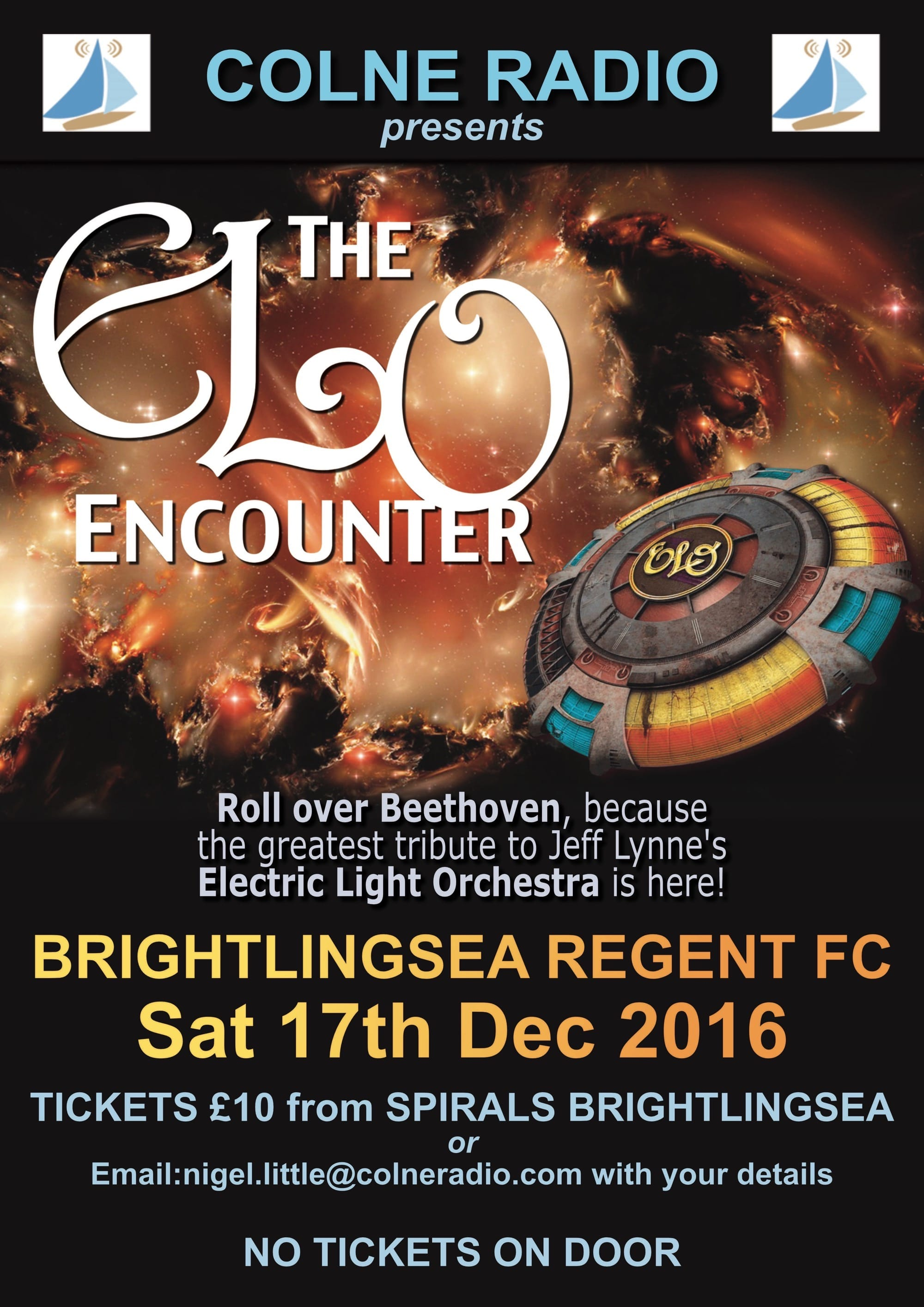 ELO Encounter Tribute - Poster - Colne Radio