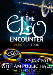 Witham Public Hall - ELO Encounter Tribute Poster