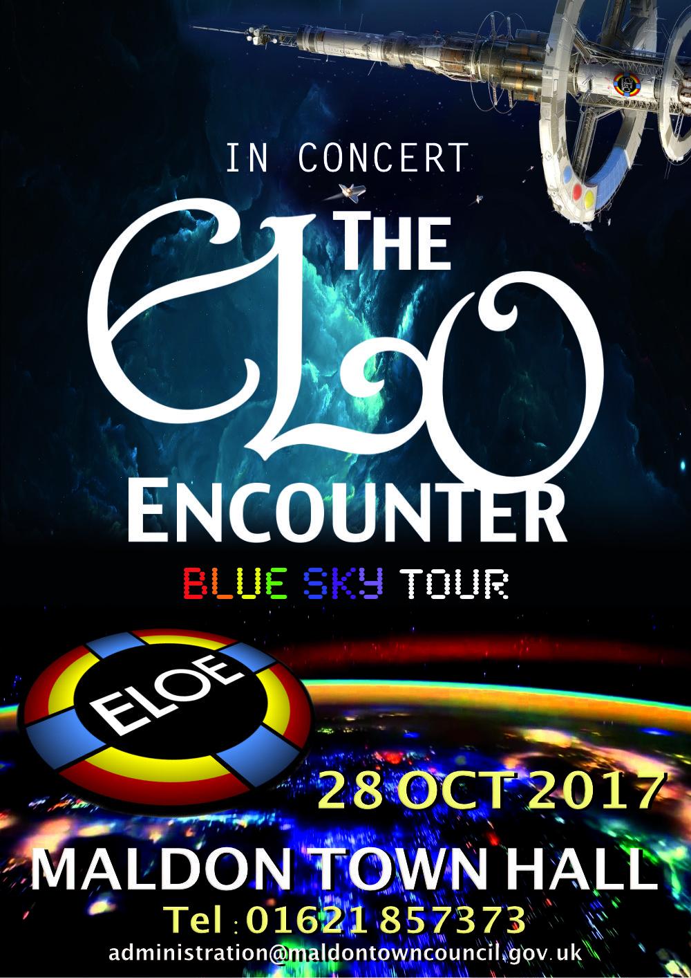 Maldon Town Hall - ELO Encounter Poster