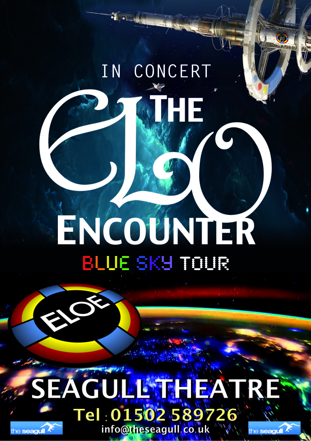 Seagull Theatre Lowestoft - ELO Encounter Tribute Poster