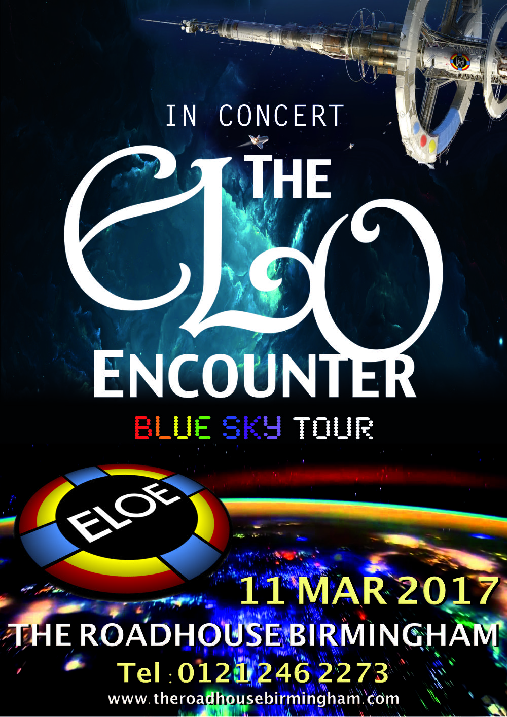 The Roadhouse Birmingham - ELO Encounter Poster