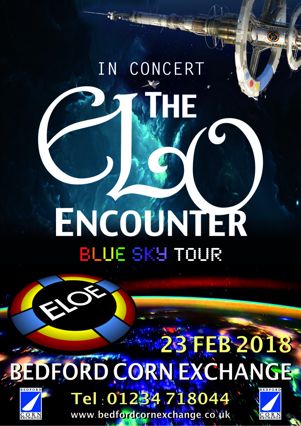 Bedford Corn Exchange - ELO Encounter Poster