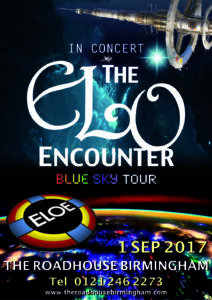 The Roadhouse Birmingham 1 Sep 2017 - ELO Encounter Poster