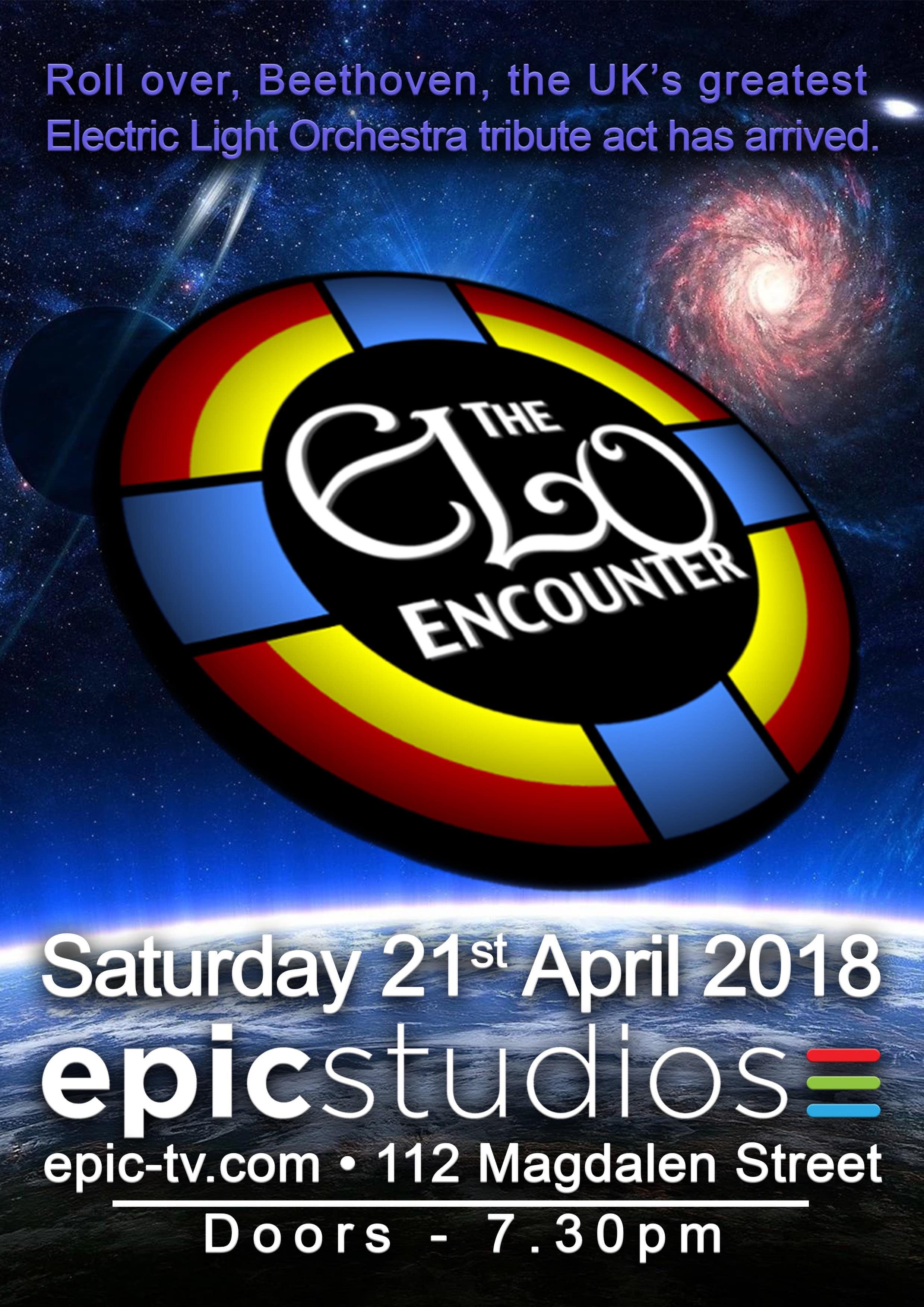 Epic Studios Norwich - ELO Encounter Poster